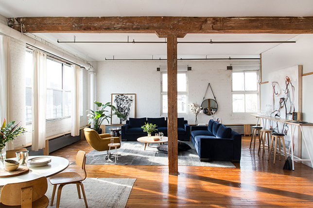 industrial living room vancouver