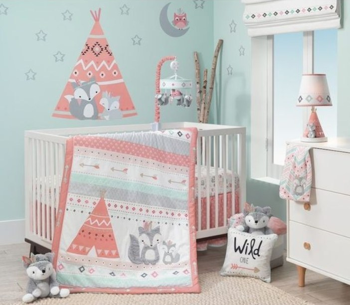 baby girl nursery colour ideas