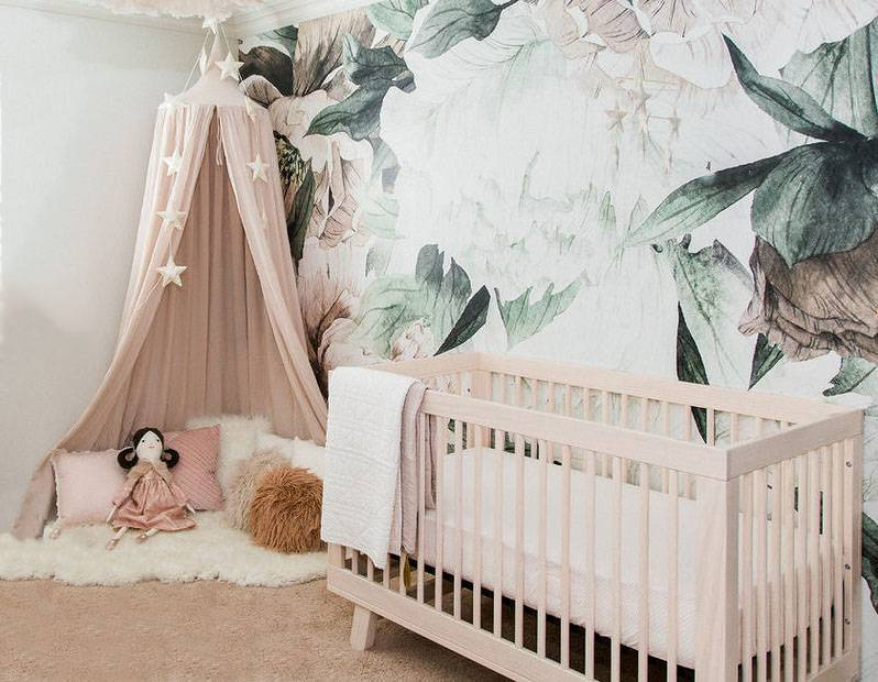 baby girl nursery ideas pink and green
