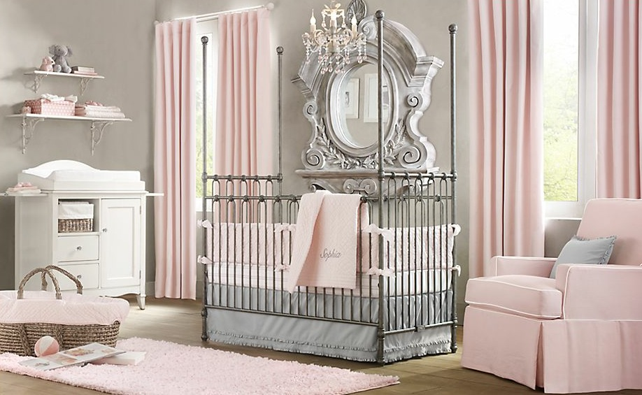 baby girl nursery ideas pink and grey