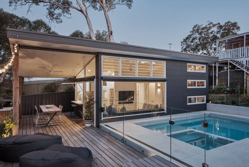 building a small deck over concrete steps