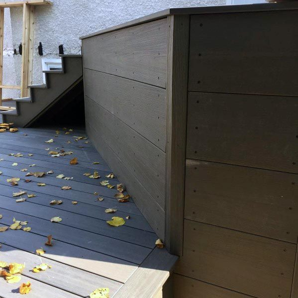 deck skirting stairs