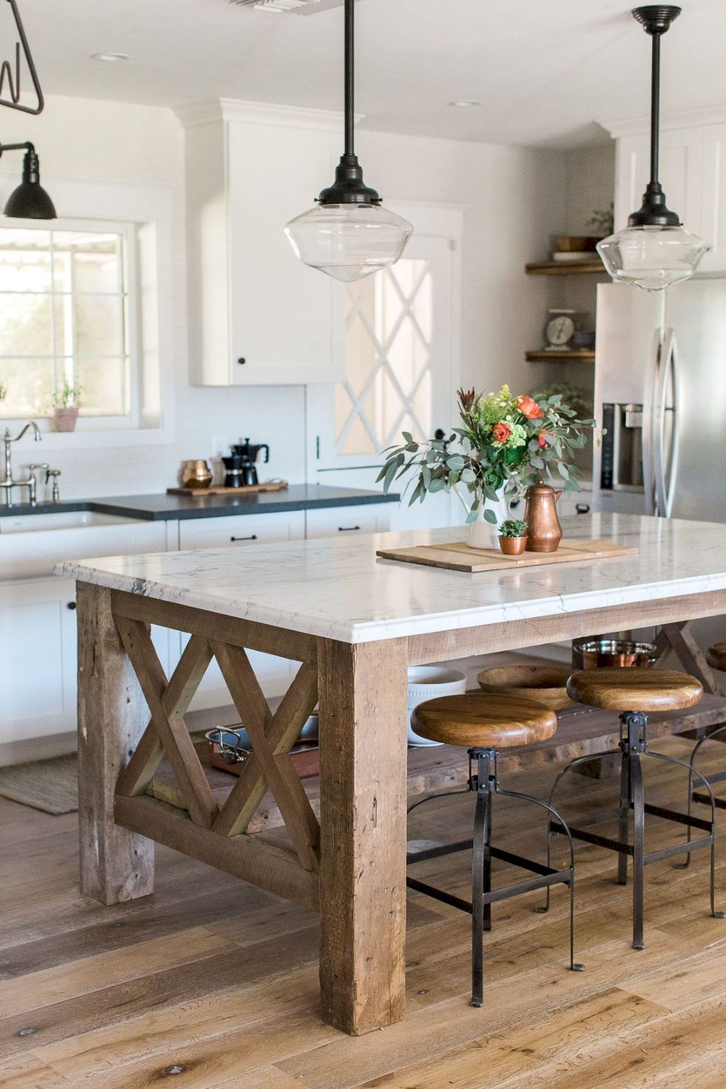 kitchen island as dining table