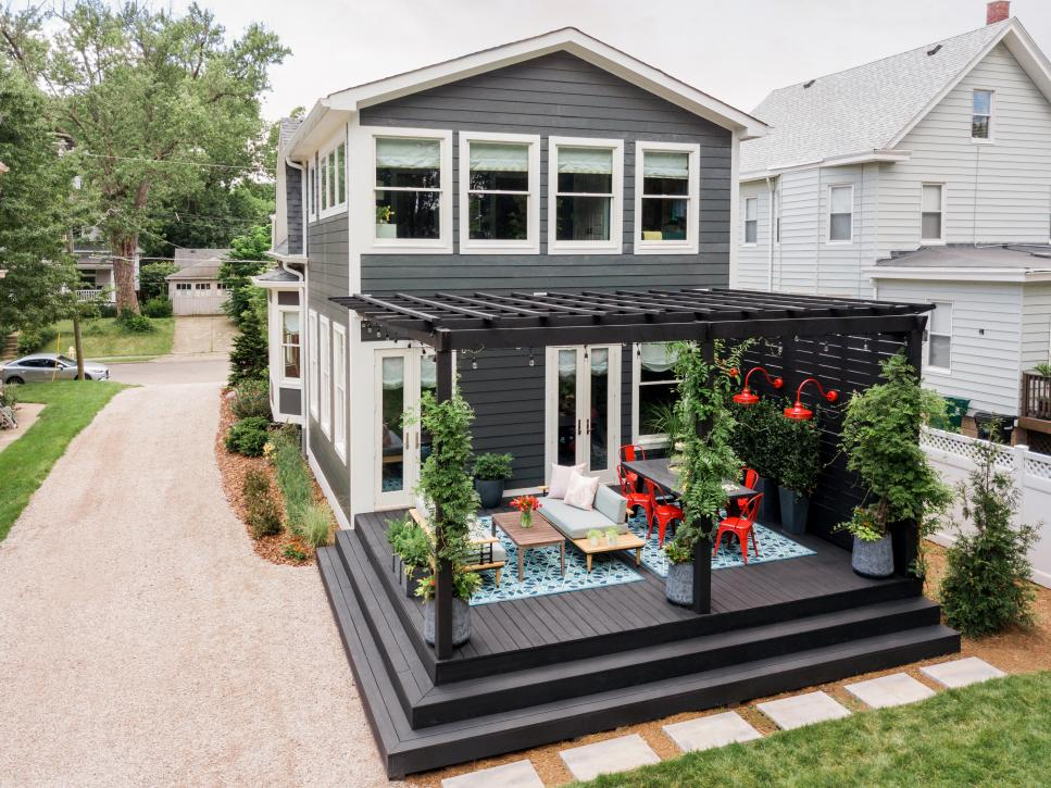 small deck and steps