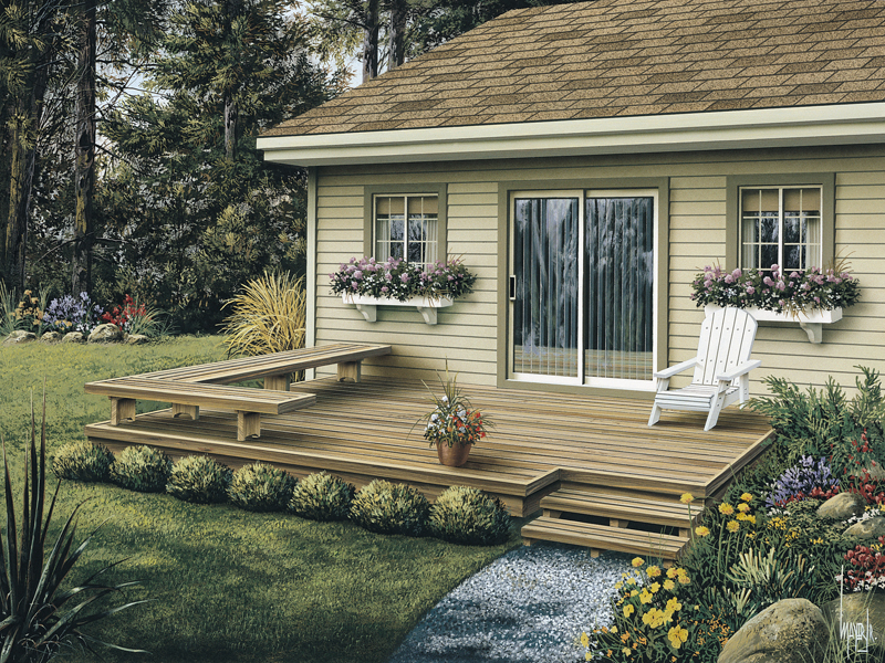 small deck and stairs