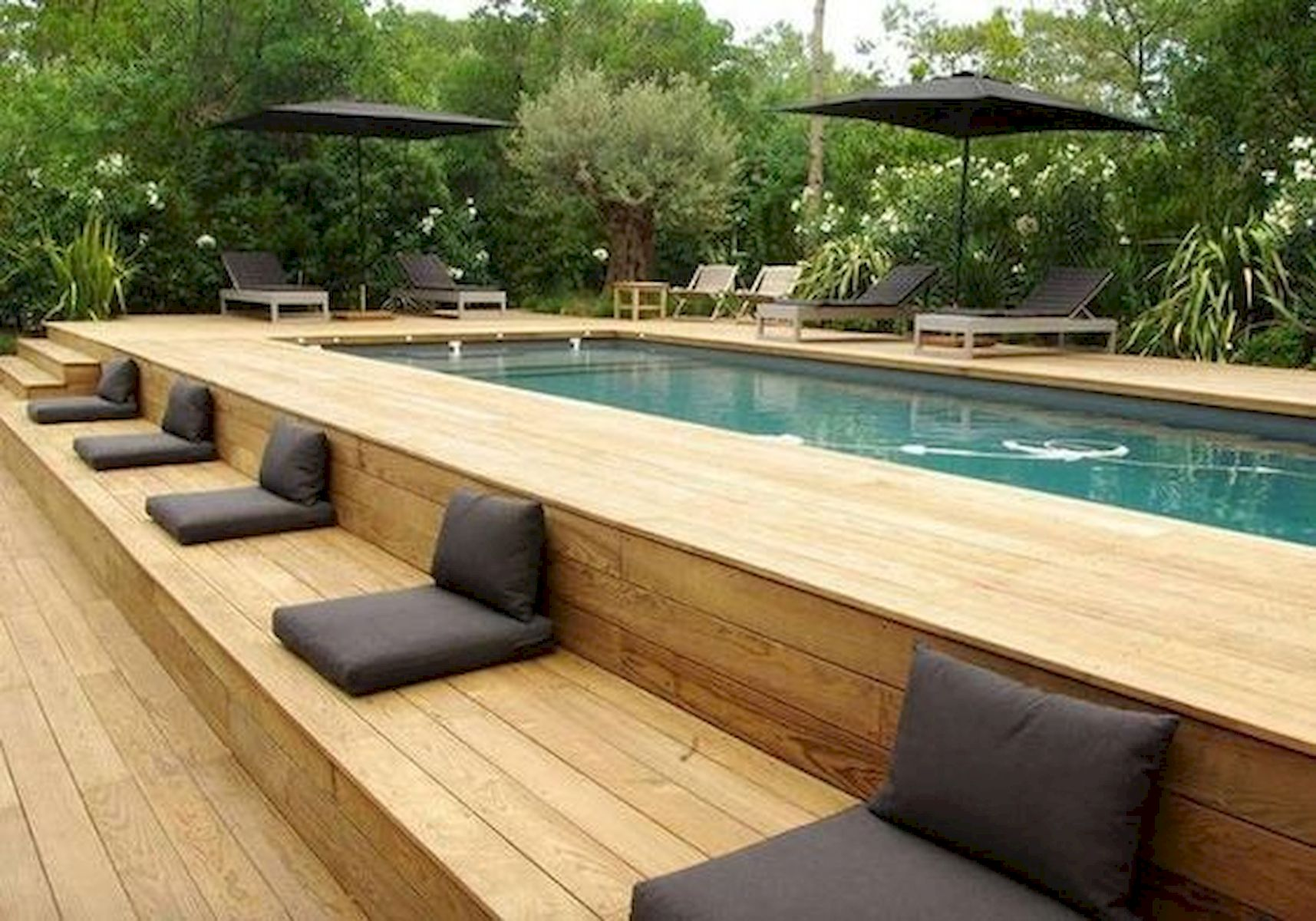 24 foot round pool deck ideas
