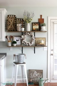 kitchen wall decor with hooks