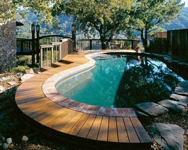 backyard deck ideas with pool