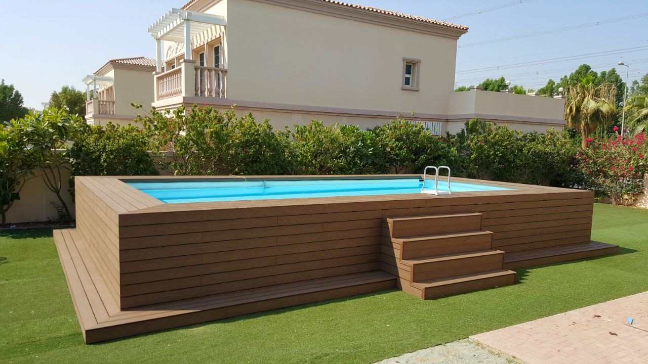 rectangle pool deck ideas