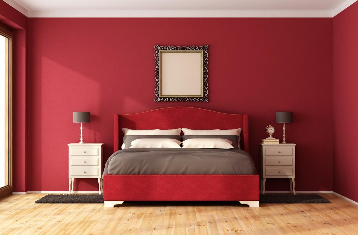 red bedroom light shades