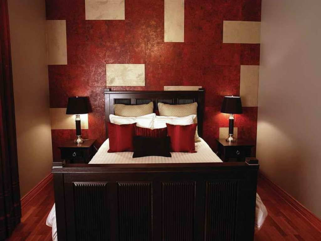 red modern bedroom