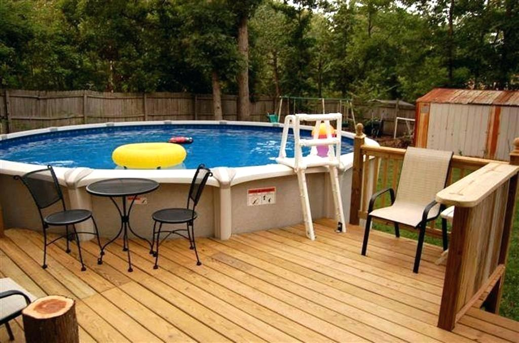 patio deck ideas with pool