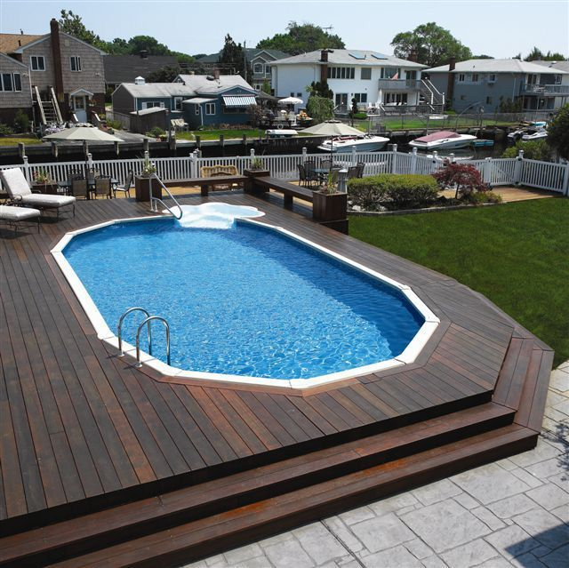 deck ideas with pool