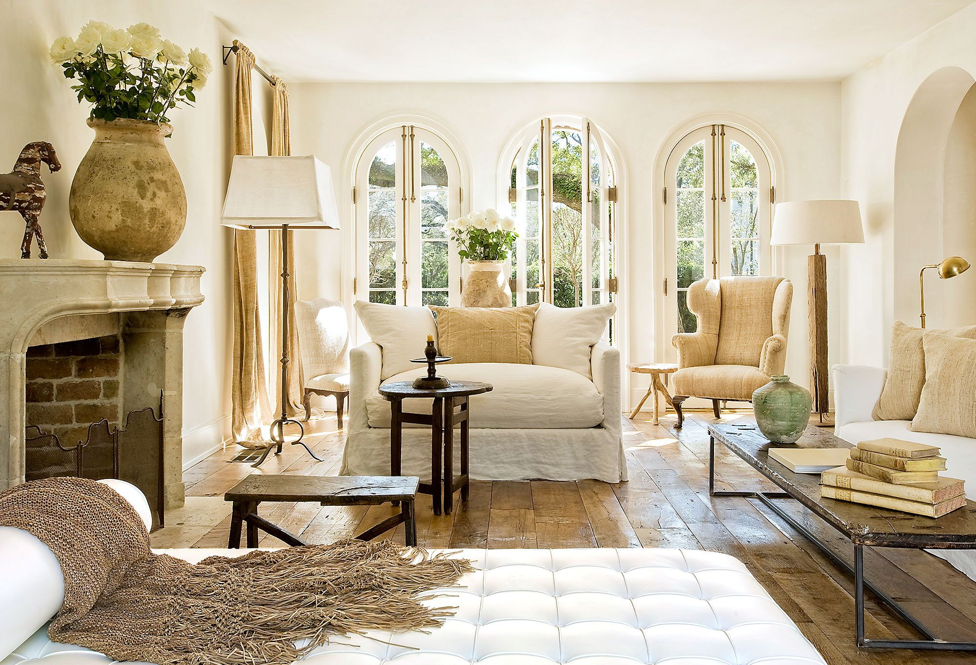 French farmhouse living room