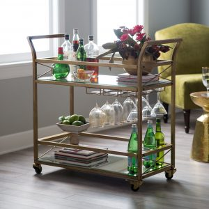 bar cart idea for small living room