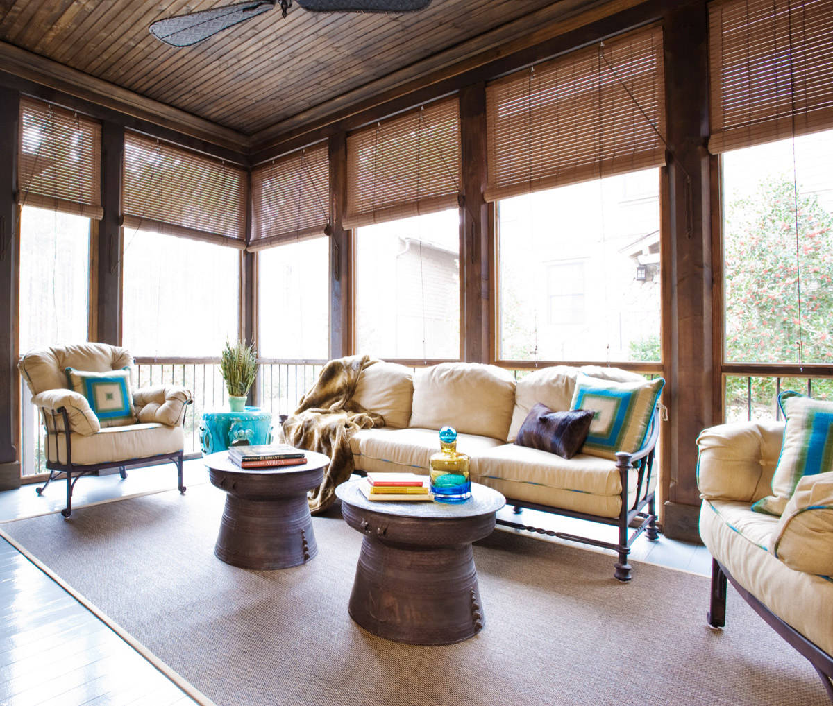 living room in tropical design