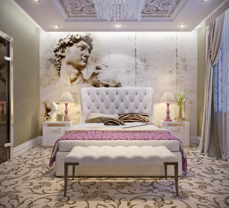 European Theme Art Deco Bedroom