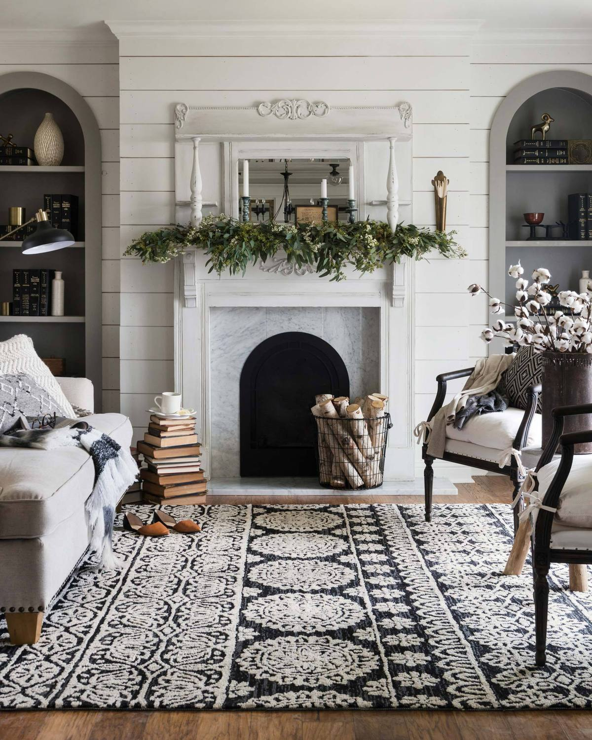 living room in transitional style