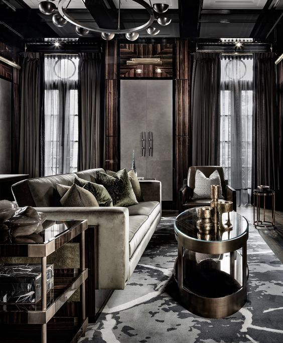 Living Room with Remarkable Dark Elements