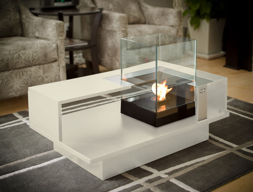 fireplace for romantic living room table