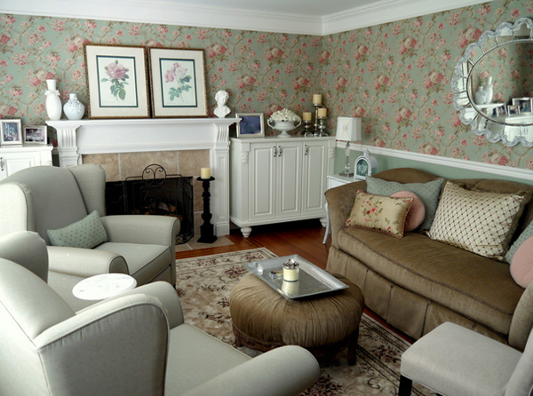 Living Room with Feminine Accent