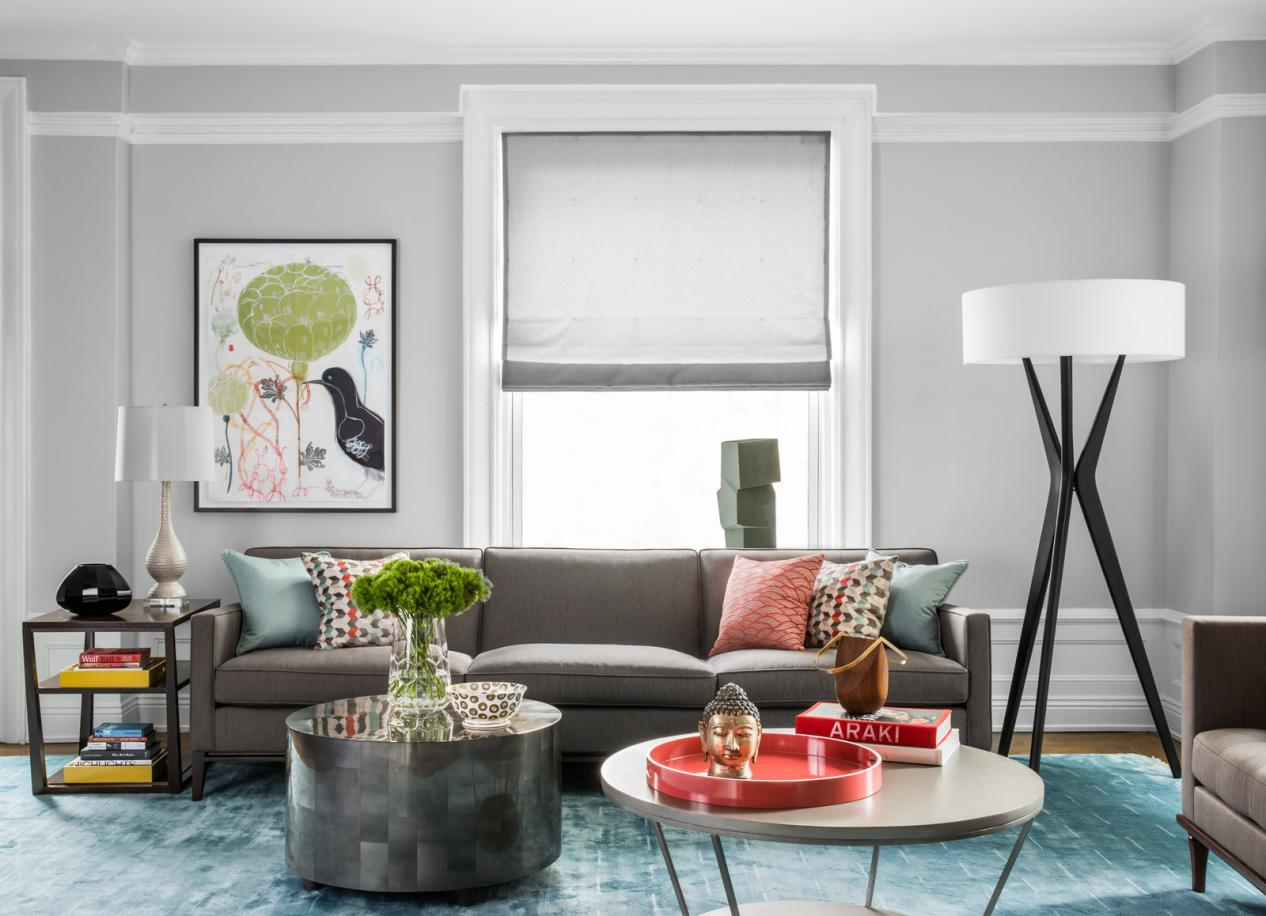 Living Room with Colourful Accessories