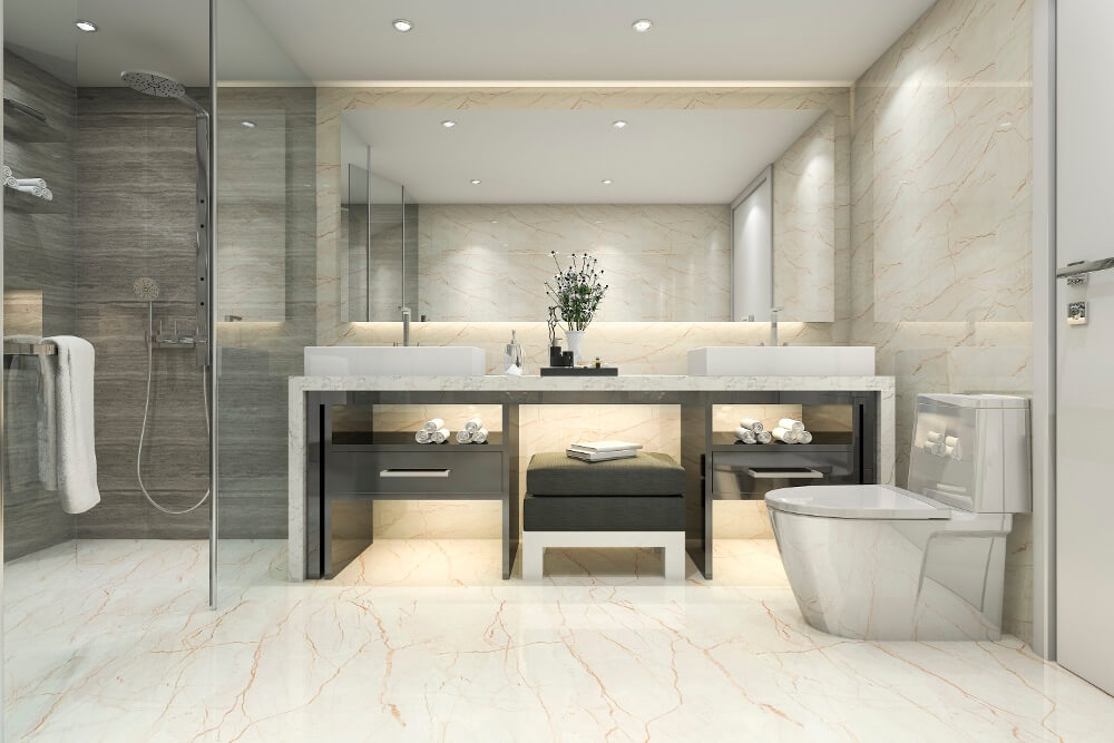 Bathroom with Modern Touch