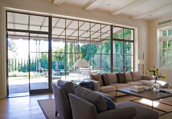 Living Room Windows with Simple Design