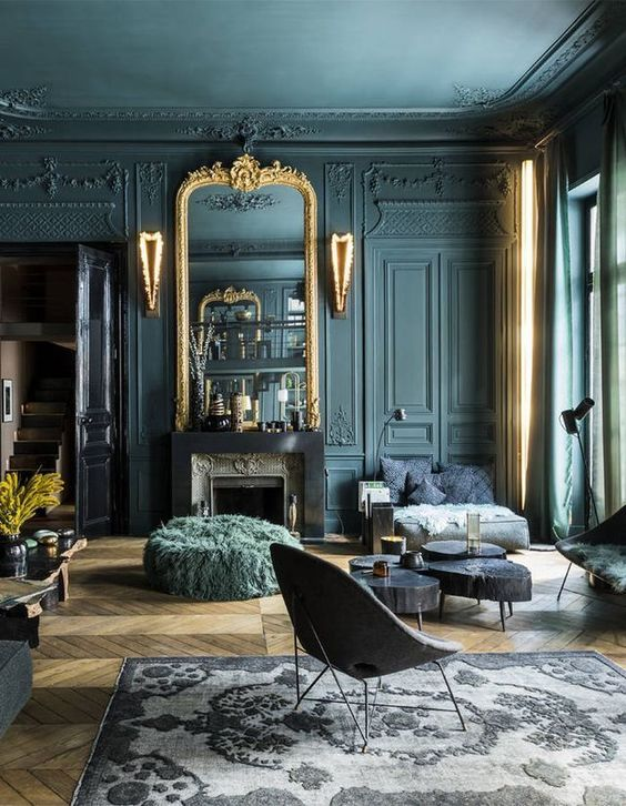 Living Room with Black