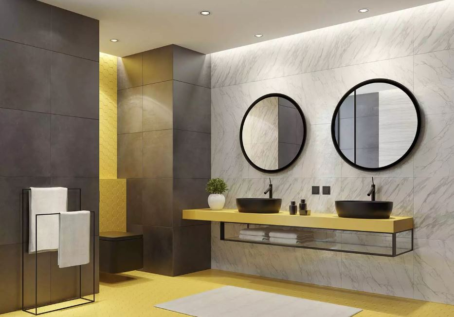Bathroom with Two Mirrors