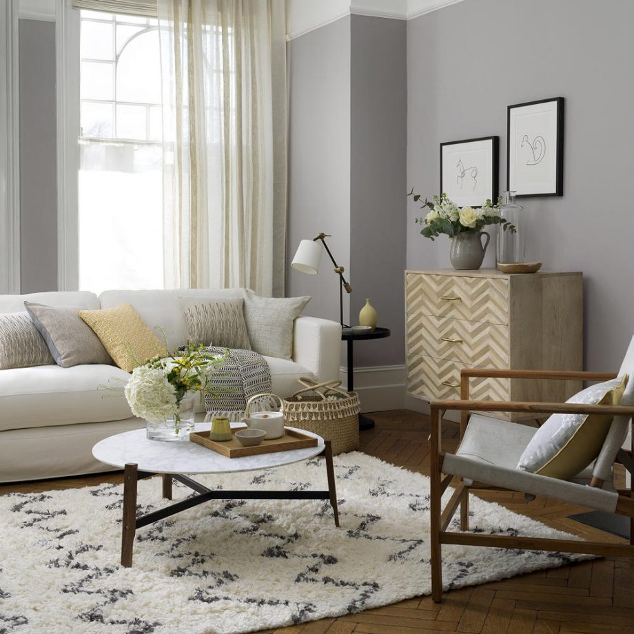 Living Room in Brown and Grey Tones