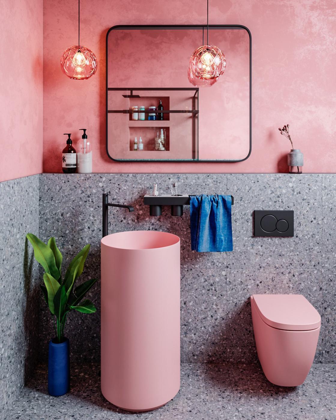 Bathroom with Unique Sink