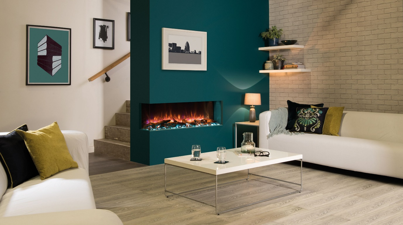 gas fireplace for an apartment