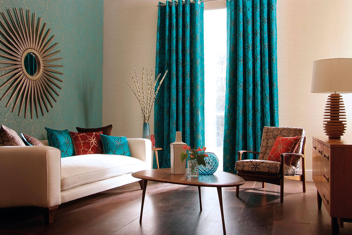 pillows for teal-themed living rooms