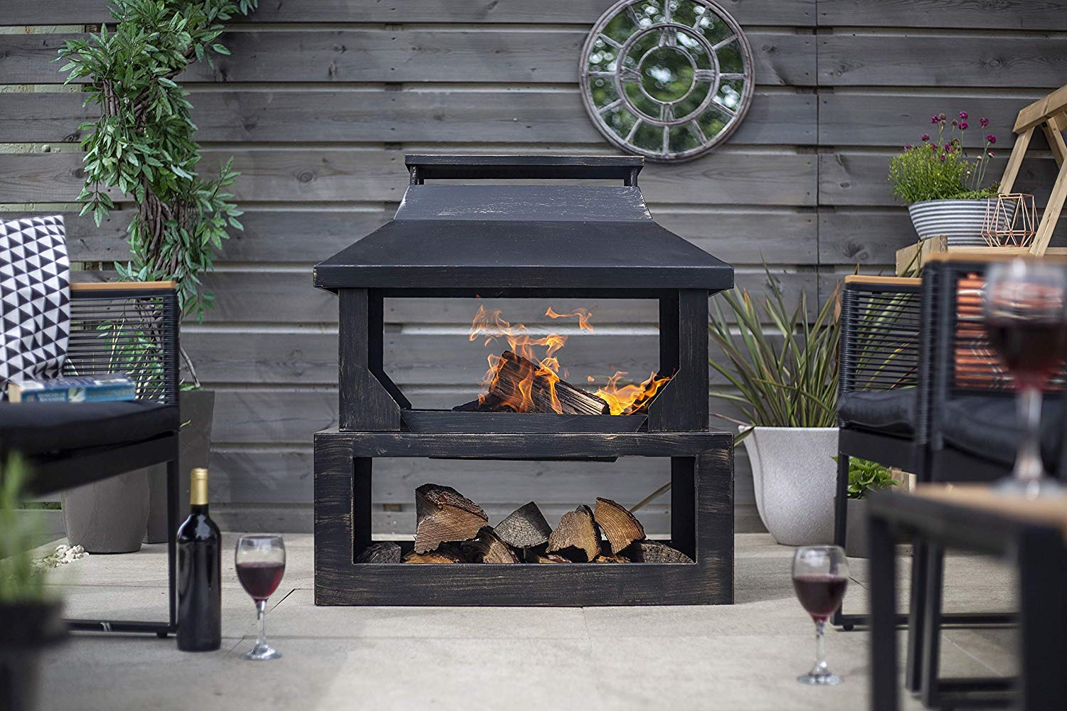fireplace for outdoor living room