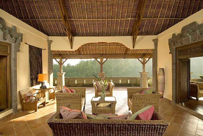 tropical Balinese style living room