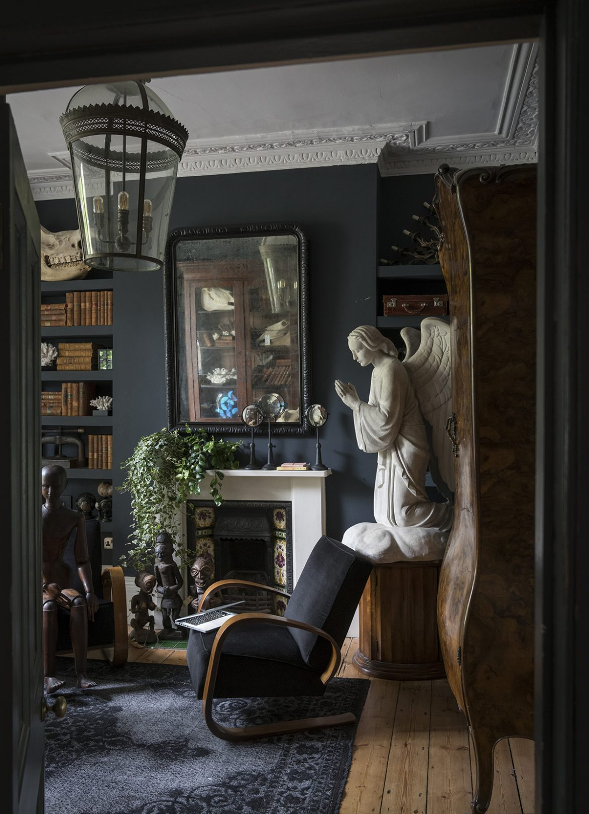 Living Room with Noteworthy Statues