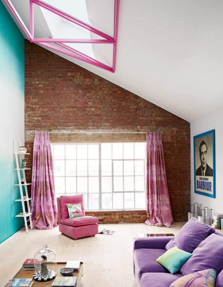 Small Living Room Pink Curtains