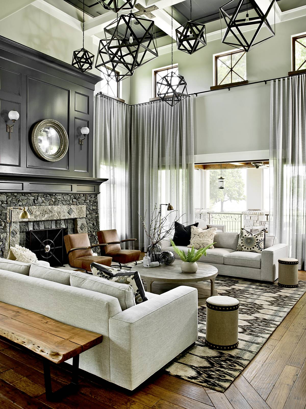 living room in transitional setting