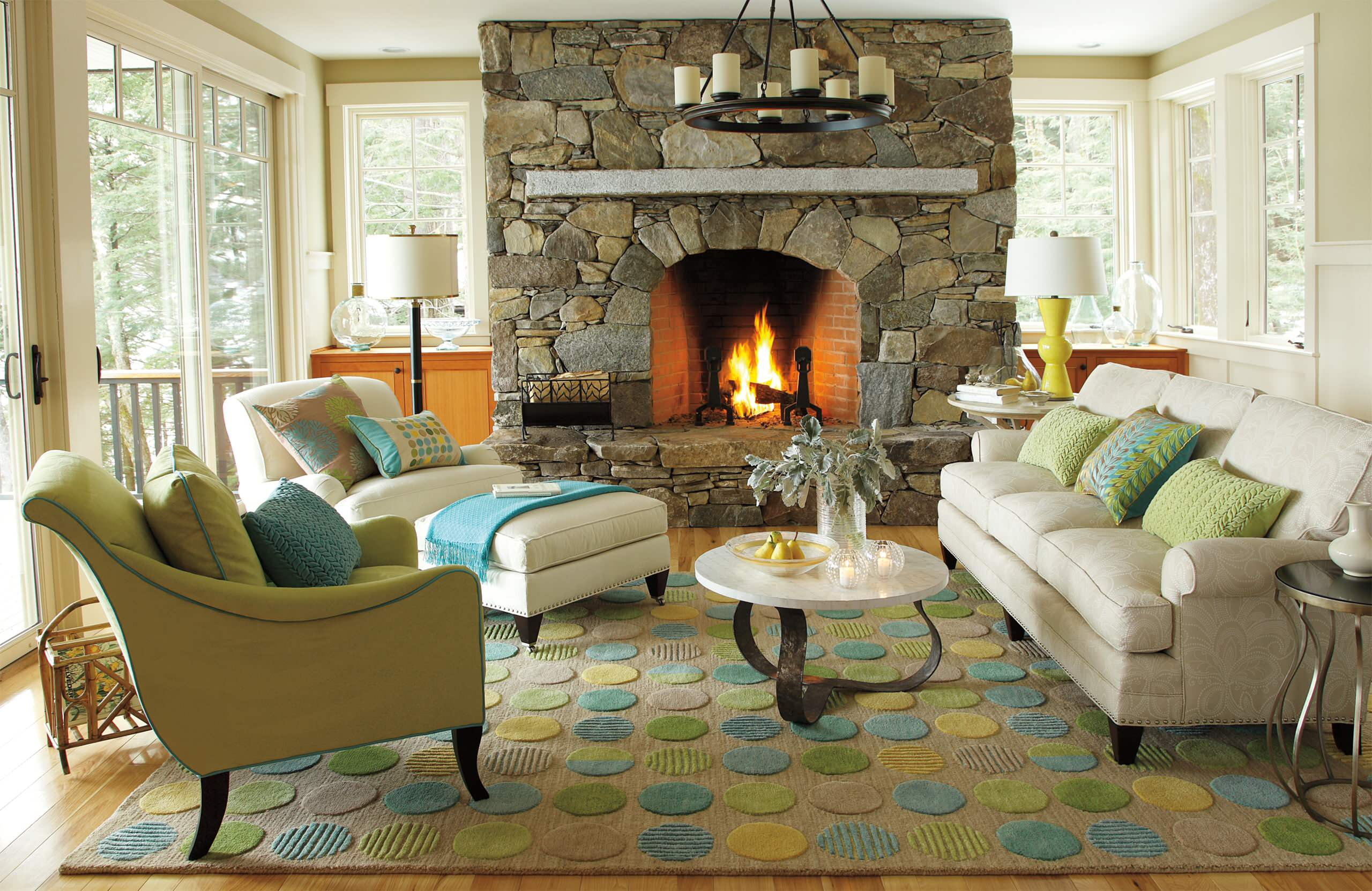 fireplace for rustic modern living room