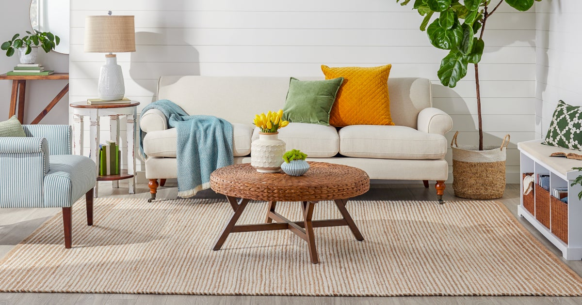 modern with jute rugs