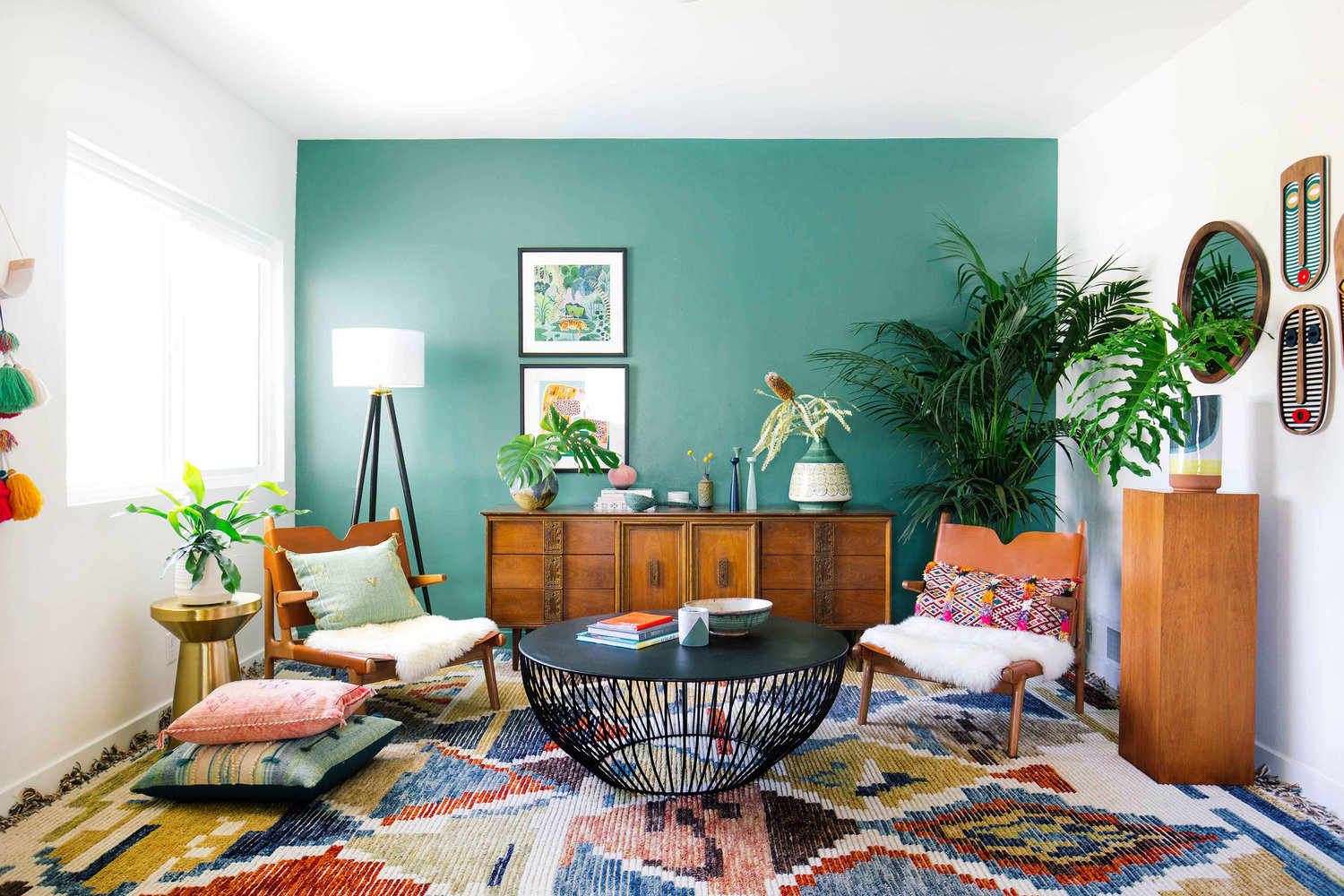tropical transitional living rooms
