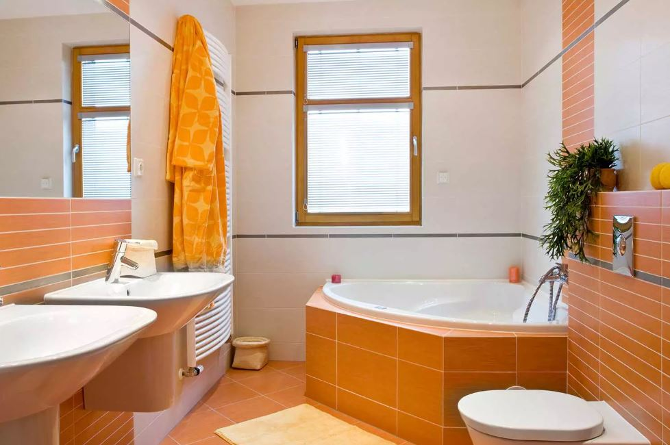 Bathroom with Different Sized Tiles
