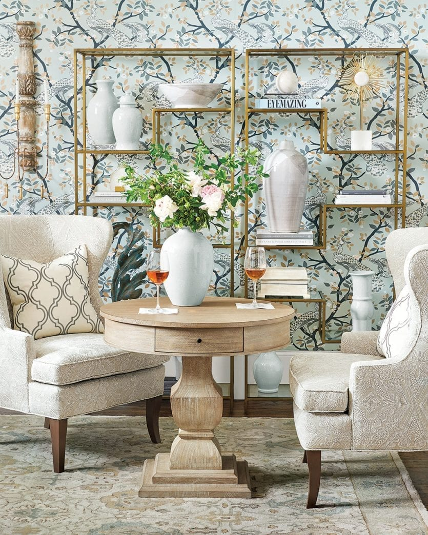 Bold decor for transitional