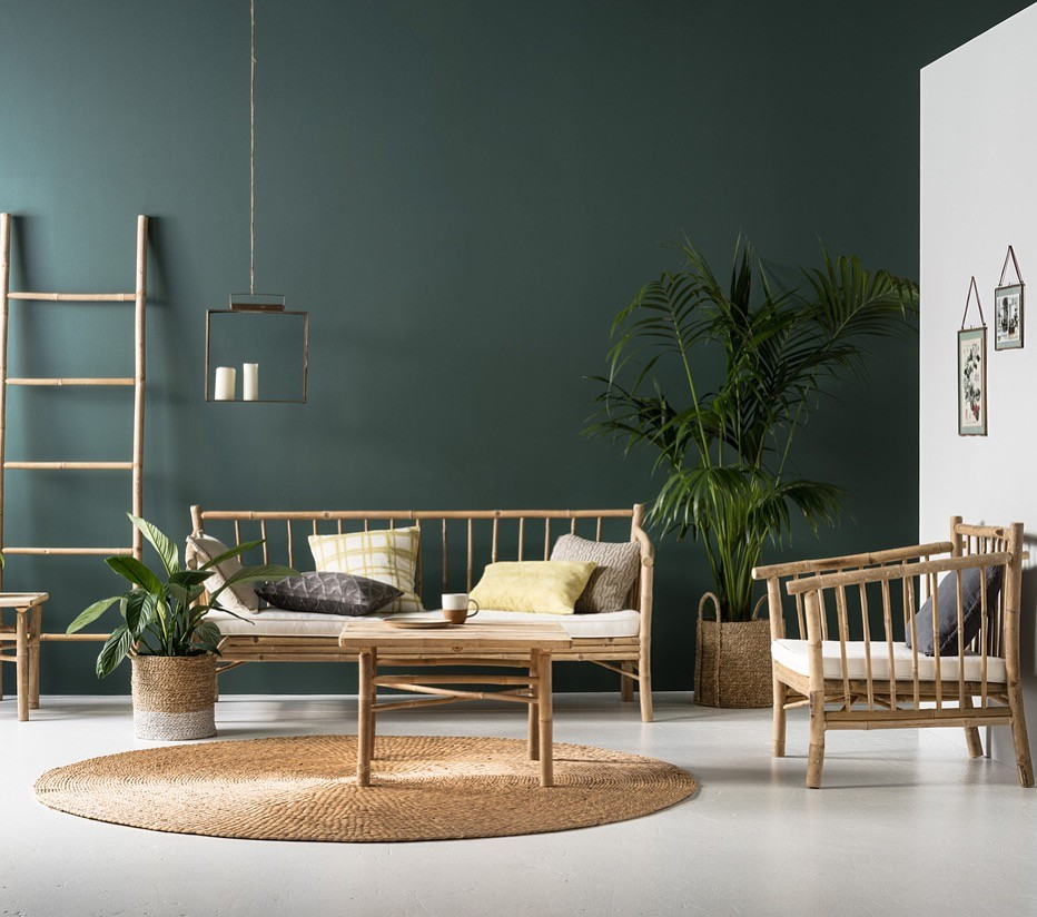 Bamboo chairs for tropical minimalist