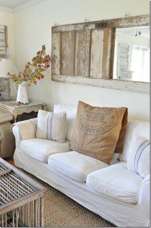 Burlap shades for living room
