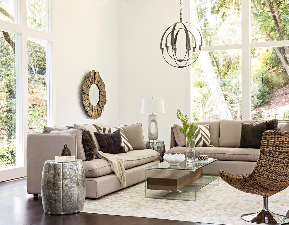 Ideas for transitional living room