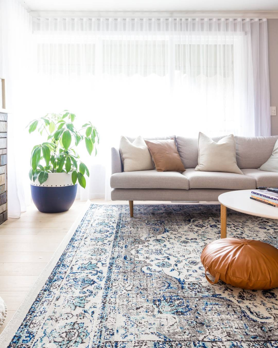 transitional-themed living room