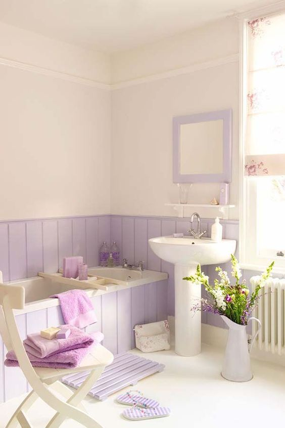 White and Soft Purple Colours
