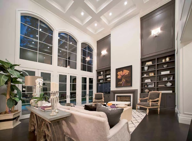 Ceiling and Black Marble